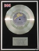 "AGNETHA FALTSKOG (ABBA) 7"" Platinum Disc THE HEAT IS ON"